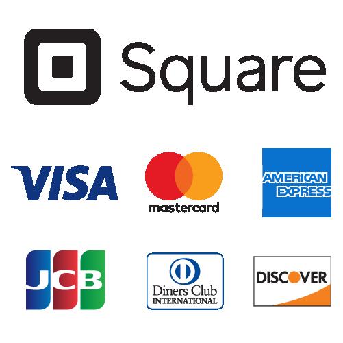 各種クレジットカードご利用可能です。