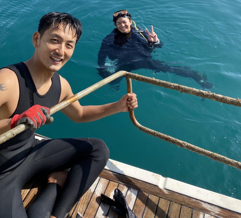 沖縄 チャータークルージング クルーザー 清掃 船底掃除